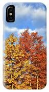 Fall Sunrise On Hackmatack Nwr Oaks IPhone Case