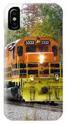 Fall Train In Color IPhone Case by Rick Morgan