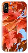 Fall Tree Leaves Art Prints Blue Sky Autumn Baslee Troutman IPhone Case