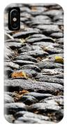Fallen Leaves On A Street At Autumn IPhone Case