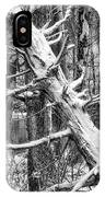 Fallen Tree And Snow IPhone Case