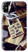 Falling In Love To The Beat Of The Music, Love Lock IPhone Case