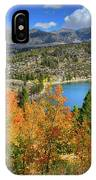 Fall's Finery At Rock Creek Lake IPhone Case