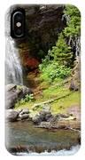 Falls Glacier National Park1 IPhone Case