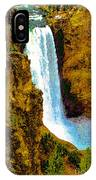 Falls Of The Yellowstone IPhone Case
