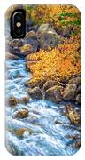 Fall's Rush To South Lake IPhone Case