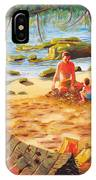 Family Day At Jobos Beach IPhone X Case