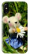 Family Mouse On The Spring Meadow IPhone Case