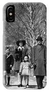 Family Out Walking On A Wintry Day IPhone Case
