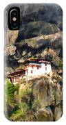 Famous Tigers Nest Monastery Of Bhutan 3 IPhone Case