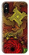 Fantasy Flowers Woodcut IPhone Case