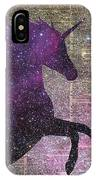 Fantasy Unicorn In The Space IPhone Case