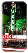Fargo Nd Theatre At Night Picture IPhone Case