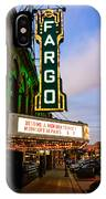 Fargo Theater And Downtown Along Broadway Drive IPhone Case