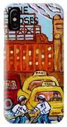 Farine Five Roses Montreal 375 Hometown Hockey Hotel Bonaventure Tour Bus Canadian Art C Spandau Art IPhone Case