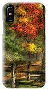 Farm - Fence - On A Country Road IPhone Case