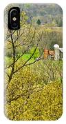 Farm Seen From Culp Hill Lookout In Gettysburg National Military Park-pennsylvania IPhone Case