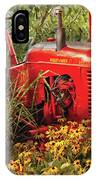 Farm - Tractor - A Pony Grazing IPhone Case
