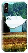 Farm With White Silos IPhone Case