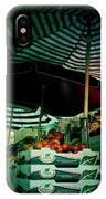 Farmers Market With Striped Umbrellas IPhone Case