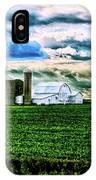 Farmland In  Hdr IPhone Case