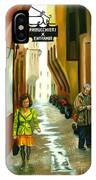 Fashion Alley In Bologna IPhone Case
