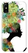 Fashion Girl With Hair Arabesque IPhone Case