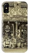 Fat Hen Grocery Sepia IPhone Case