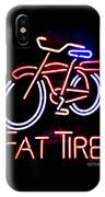 Fat Tire Neon Sign IPhone Case
