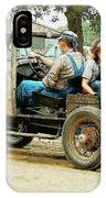 Father And Daughter In The Tractor Parade IPhone Case
