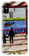 Father And Son On The Porch IPhone Case