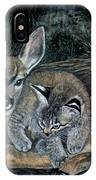 Fawn And Cat IPhone Case