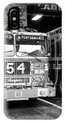 fdny fire station with engine 54 and ladder 5 battalion 9 New York City USA IPhone Case