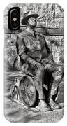 Fdr Memorial Sculpture In Wheelchair IPhone Case