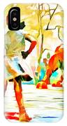 Fearless Girl And Wall Street Bull Statues 6 Watercolor IPhone Case