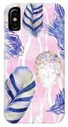 Feathers And Eggs Pattern IPhone Case