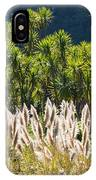 Feathery White Plants IPhone Case