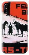 Feldpost-briefe - Beyers-tinten - Two Man With Horses - Retro Travel Poster - Vintage Poster IPhone Case