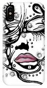 Female Abstract Face IPhone Case by Darren Cannell