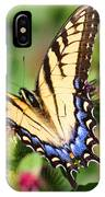 Female Tiger Swallowtail On Burdock IPhone Case