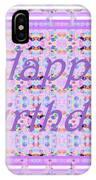 Feminine Lavender Birthday Card IPhone Case