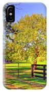 Fence Pasture And Barn 1721 IPhone Case