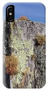 Fence Post Encrusted With Lichen  IPhone Case