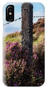 Fence Post In The Peak District IPhone Case