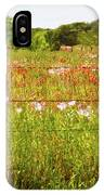 Fenced In Wildflowers IPhone Case