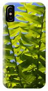 Fern Fronds Against Blue Sky IPhone Case
