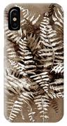 Fern In Sepia IPhone Case
