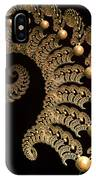 Fern-spiral-fern IPhone Case