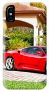 Ferrari F430 On Adv1 Wheels 2 IPhone Case