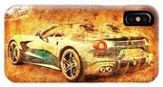 Ferrari F60 America, Golden Poster, Birthday Gift For Men IPhone Case